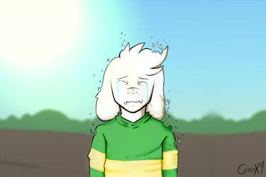 Asriel into Dust - Fake Screenshot Glitchtale by ALoquenderoYT