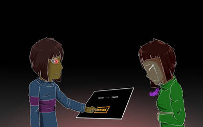 Frisk uses the replace button - Glitchtale T2 by ALoquenderoYT