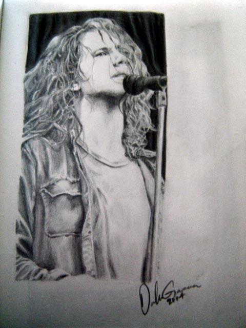 Drawing of Eddie Vedder by GloriousEuph0ria
