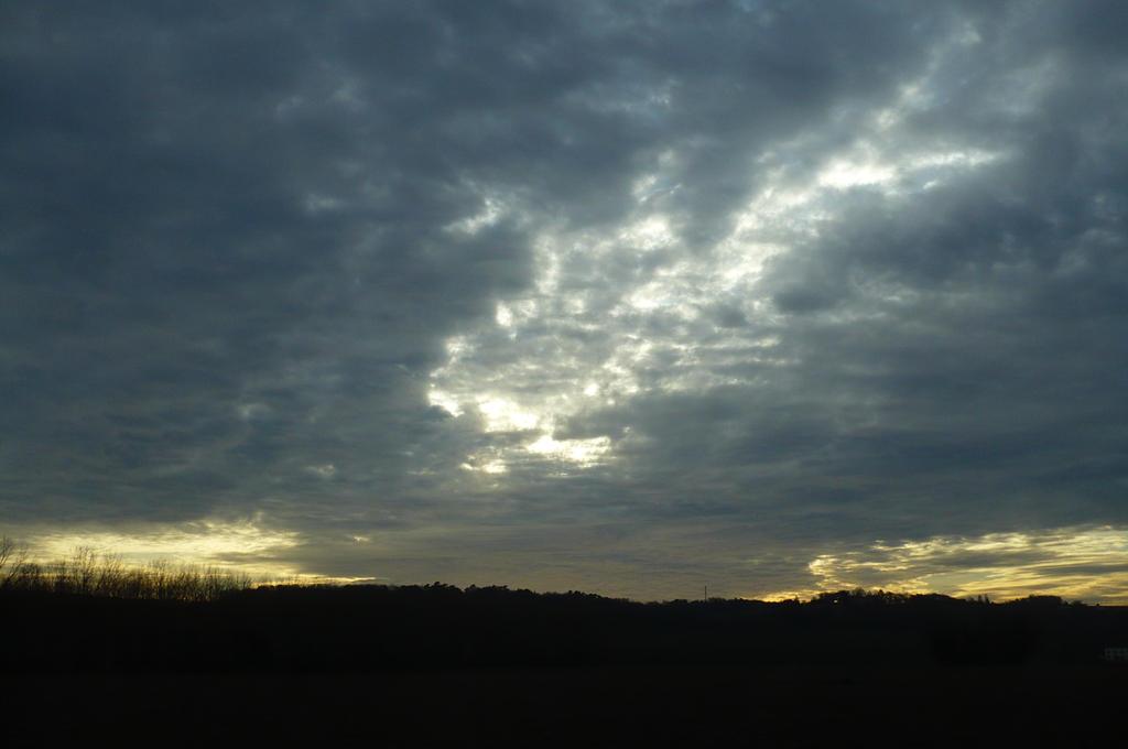 January Sunset Sky by nicolapin