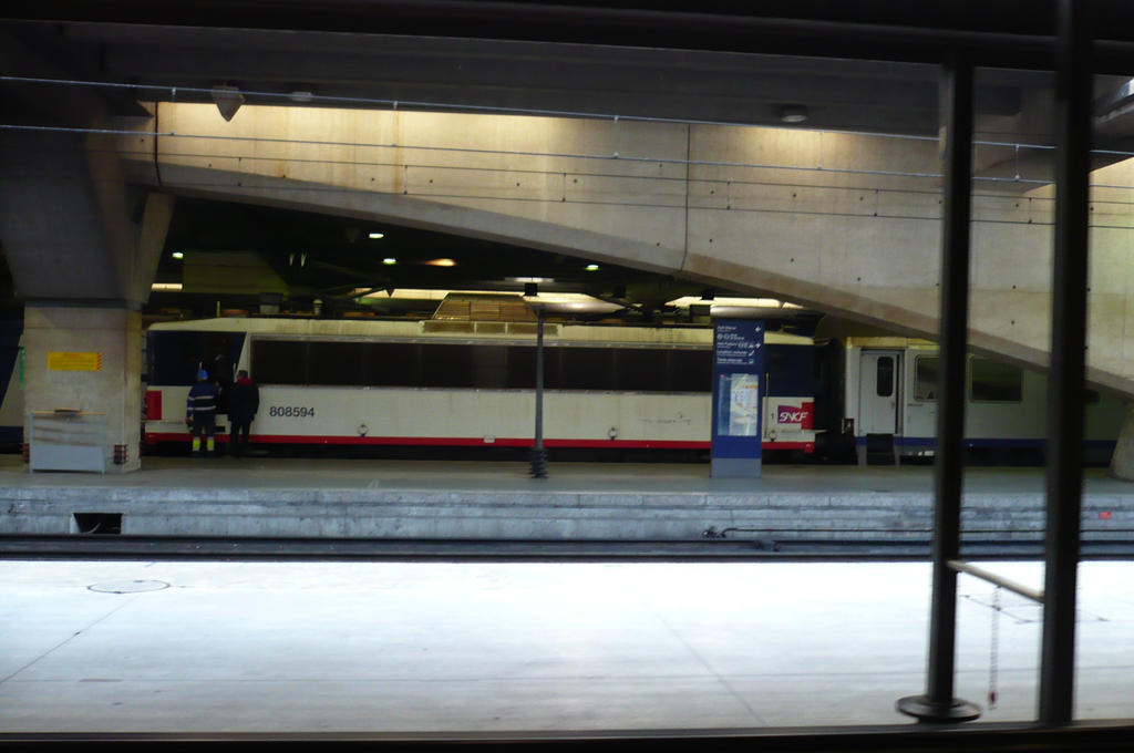 Train in Montparnasse by nicolapin