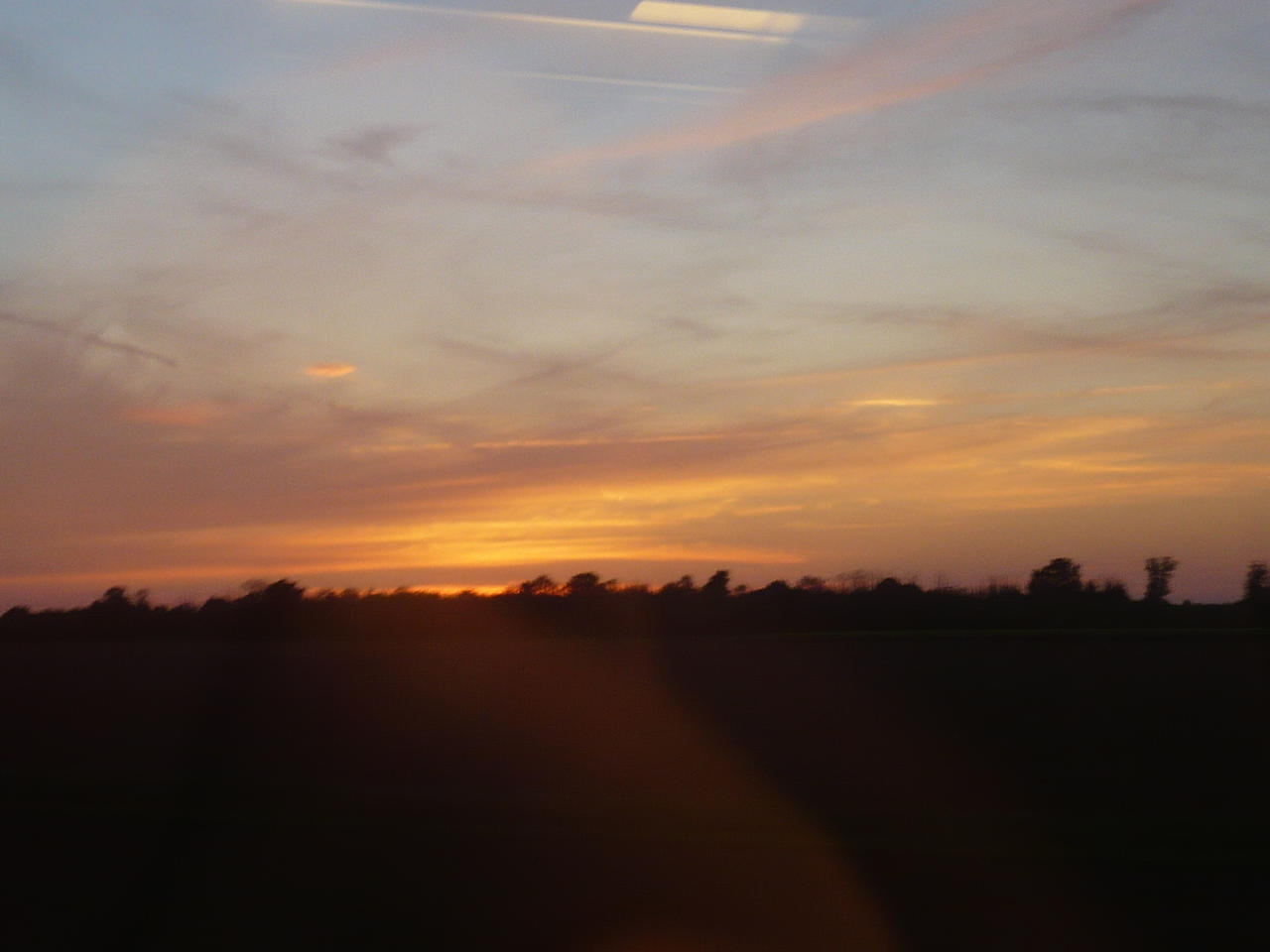 Sunset from the Train by nicolapin