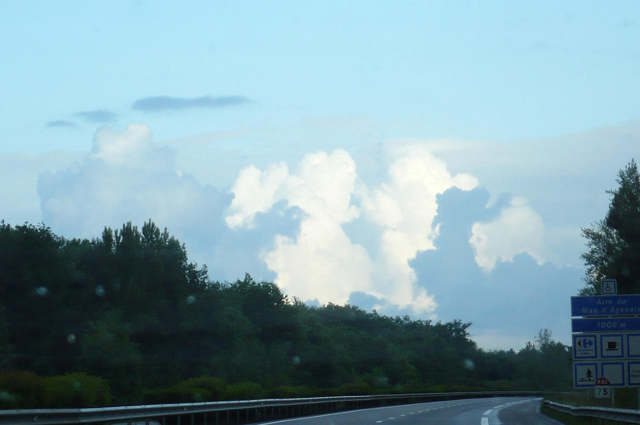 clouds on the highway by nicolapin