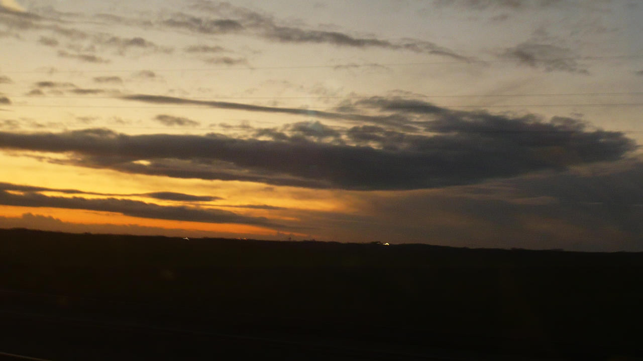 autumn sunset from the train 1 by nicolapin
