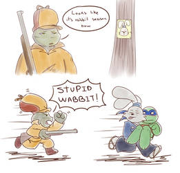 Rabbit season by Emaberry