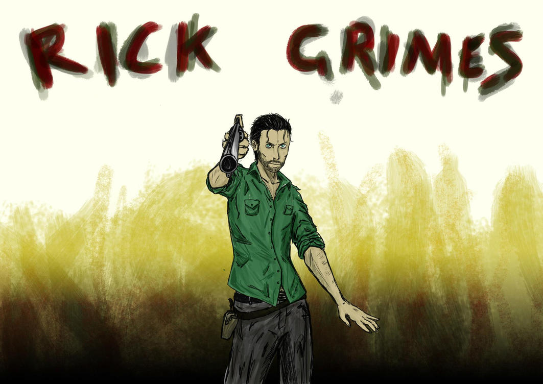 how to draw rick grimes comic
