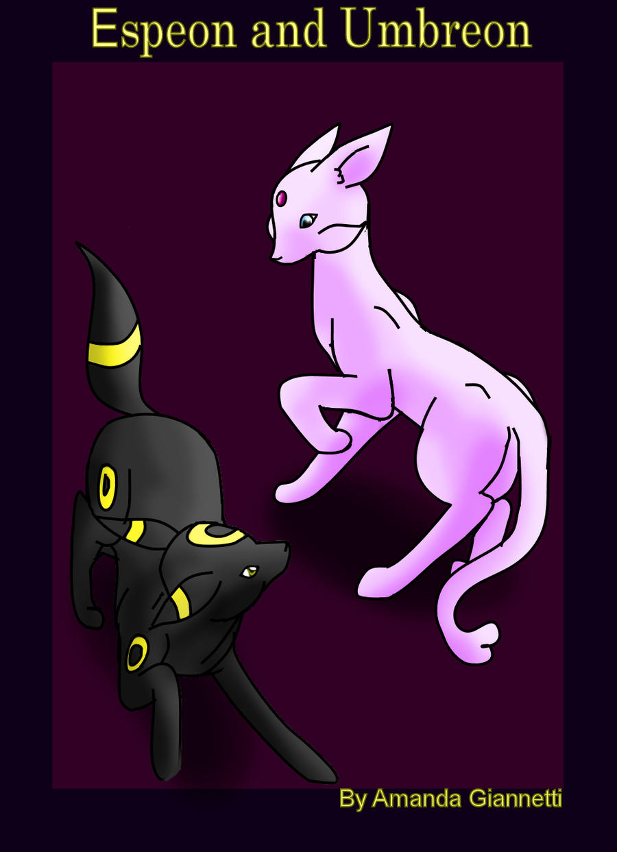 Espeon and Umbreon cover by Wildfrost24 on DeviantArt
