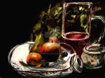 realistic still life drawing colored pencil