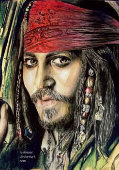 Johnny Depp colored pencil drawing