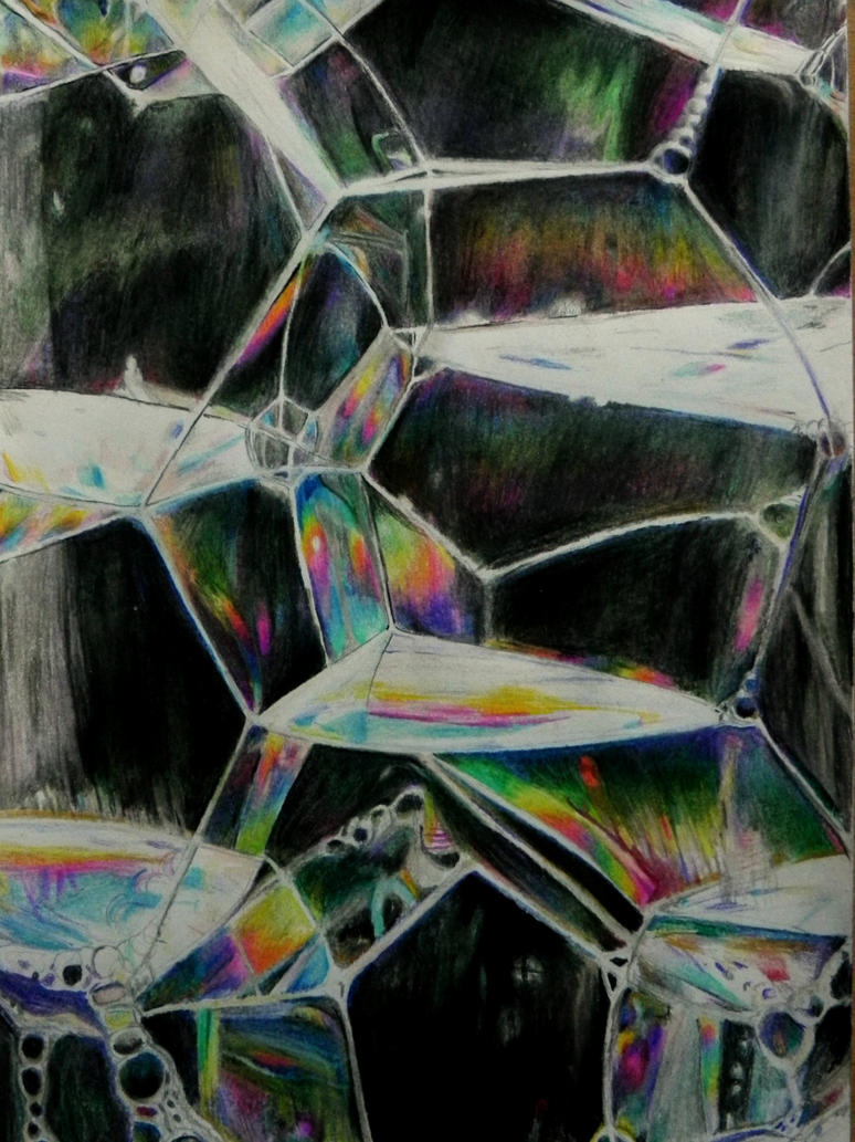 colored pencil realistic (soap) Bubbles drawing by ...
