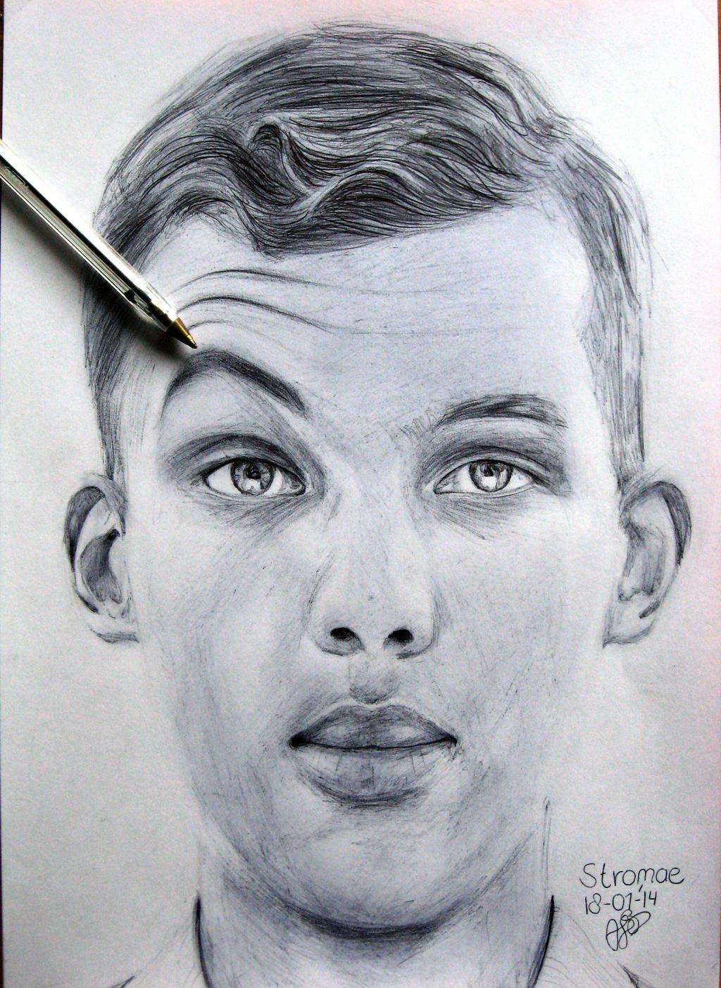 Stromae ballpoint drawing by textmixer on deviantart