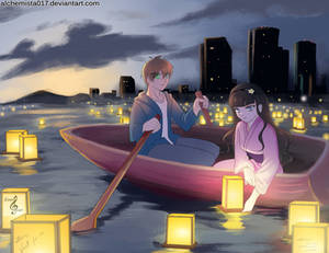 Japanese Lantern Floating Festival by tiXri