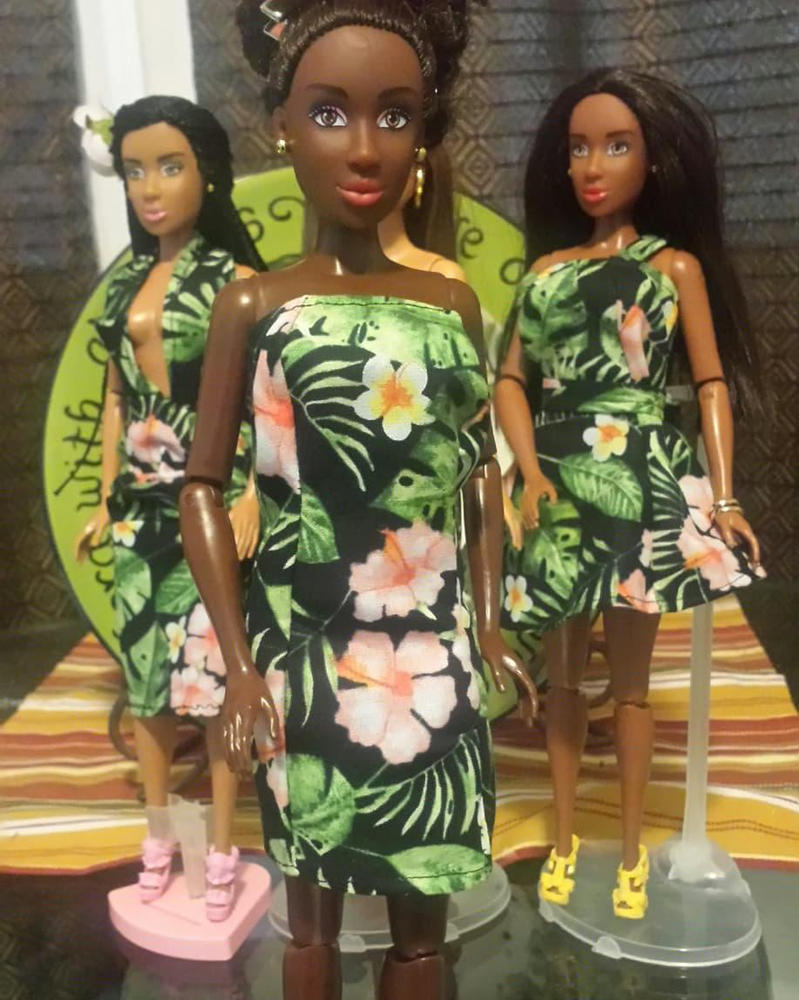 Strapless Tropical Dress by missmjwilson