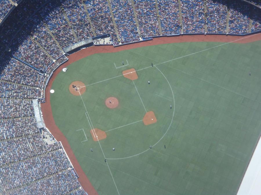 baseball from above by Joreleroo