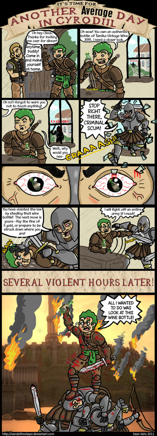 An Average Day in Cyrodiil 1 by PapaPicosa