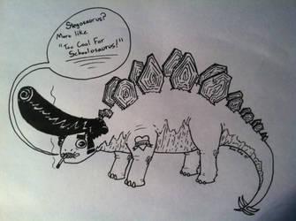 Too Cool For School-o-saurus by PapaPicosa