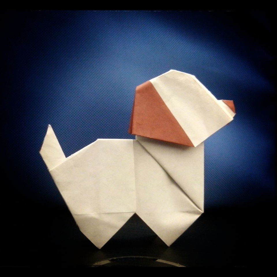 cute origami puppy by hikarulychee7 on deviantart