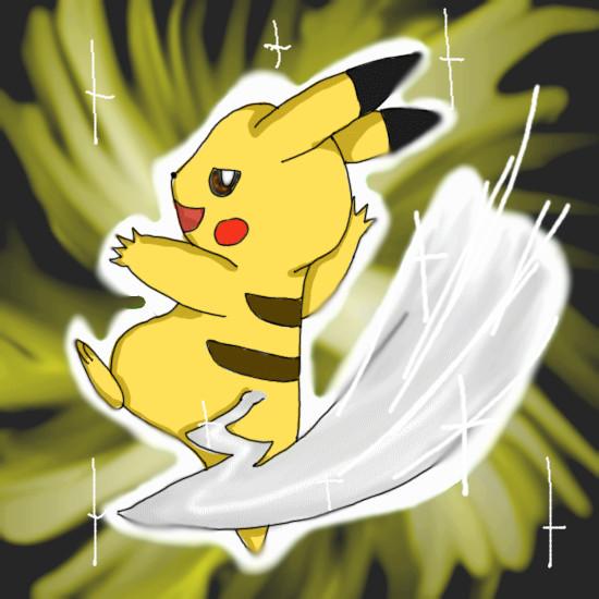 Pikachu Iron Tail Gif Pikachu Using Iron Tail by