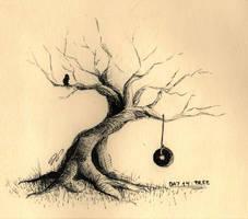 Inktober Day 14: Tree by Baraayas