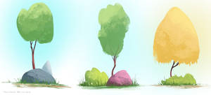 Trees sketch by cury