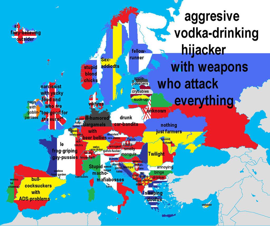 european map of insults by mumblecat european map of insults by mumblecat