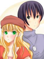 Miharu And Yuu by CaramelSalt