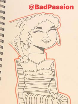 Drawing Wiff Waffles Christmas OC (Fanart)