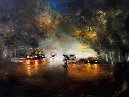 Evening rain by PiskunovSergey