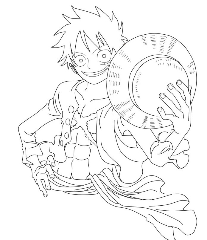 Luffy Lineart : Lineart gold luffy by mugiwara king on deviantart