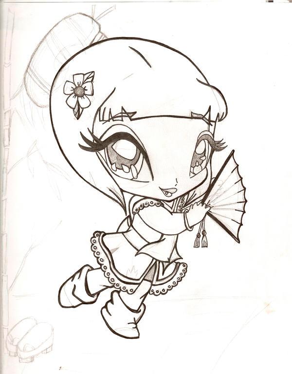 geisha w.i.p by TattooedMorrigan