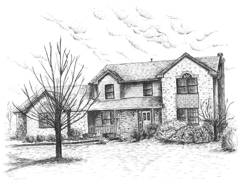 how to draw a nice house