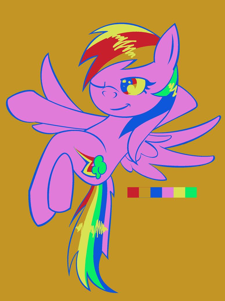 MLP FIM: Random Color Palette Challenge:Rainbow by XRainbowIceCreamX