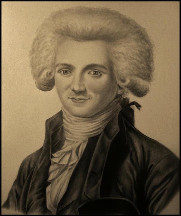Portrait de Maximilien Robespierre by Sparkypoo