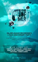 Major League Recordings event flyer