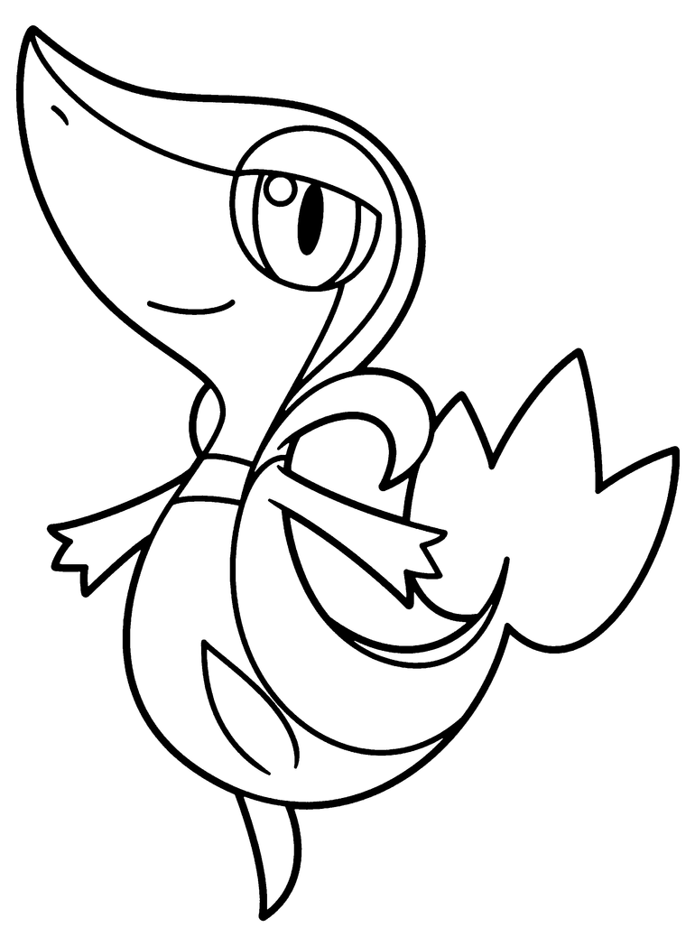 Pokemon coloring pages dewott - Snivy Base By Brightespeon Browsing Digital Media On Deviantart