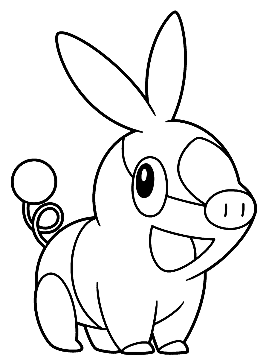 Pokemon coloring pages tepig - Snivy Tepig And Oshawott Base By Brightespeon On Deviantart