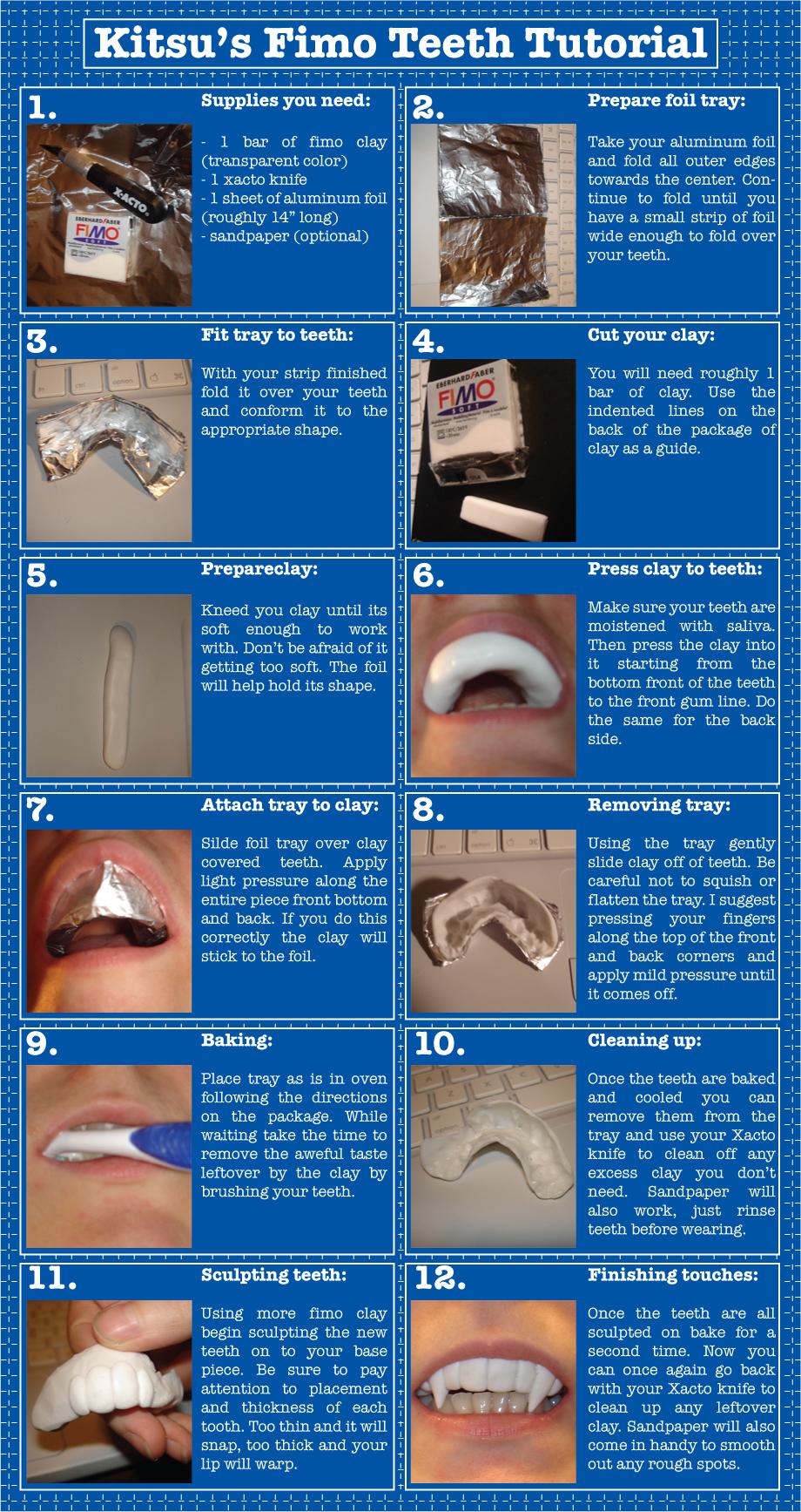 Fimo Teeth Tutorial