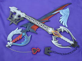 Riku's Keyblades by invader-gir
