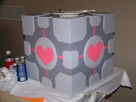 Companion Cube Console Crate by invader-gir