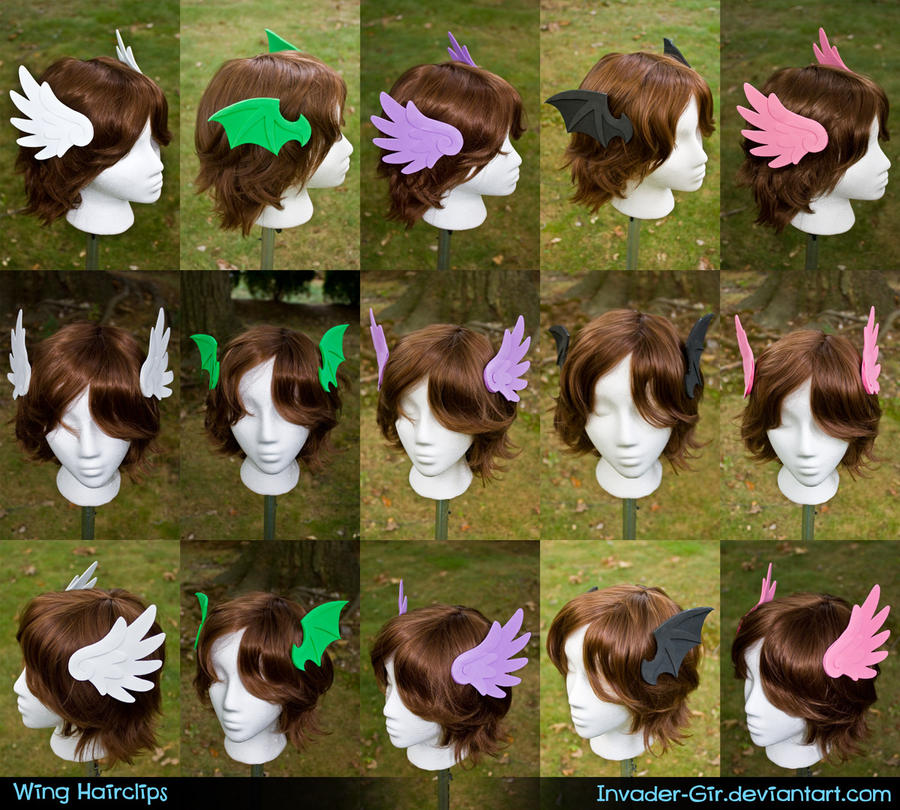 Wing Hairclips by invader-gir