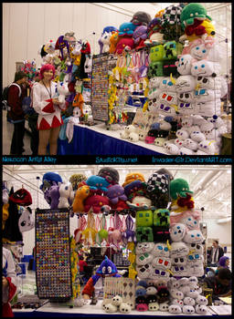 Nekocon Artist Alley table