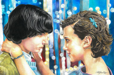 Mike and Eleven snowball by ange-lady-yunashe