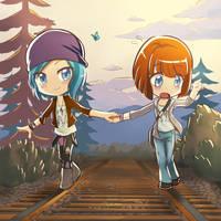Life is Strange Chloe and Max by kyuyoukai