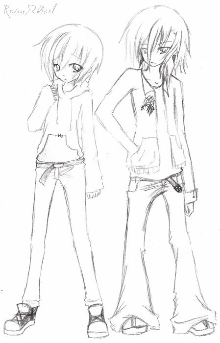 Riku and Shiki Draft 1 by RoxasS2Axel