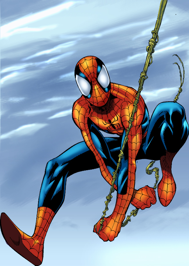 Ultimate Spiderman pinup color by GreeneLantern