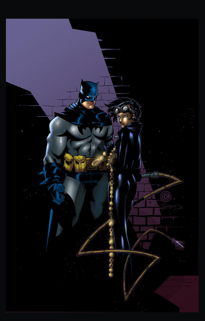 Batman and Catwoman by GreeneLantern