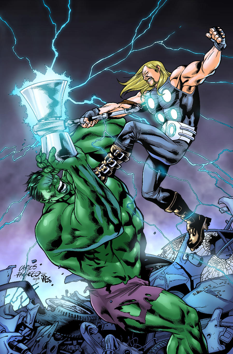Ultimate Thor vs Hulk by GreeneLantern
