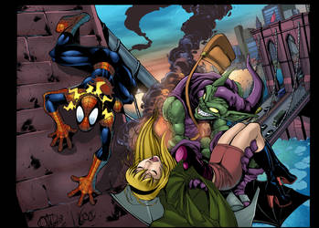 Spiderman Green Goblin by GreeneLantern
