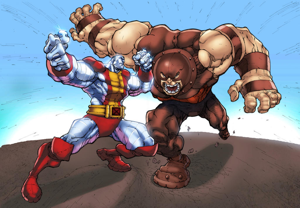 color colossus vs juggernaut by mikebowden by GreeneLantern