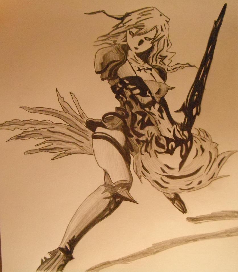 Lightning FFXIII-2 by rossparsons
